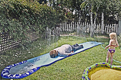 Slip n Slide tutorial (::big daddy k::) Tags: selfportrait me fun frankie summertime slipnslide project365 totw project3661 notsliding julysabcsoup paulfrankunderwear didntslip thewaterwasfriggincold yeahtonothavingtorushanykidstothehospital