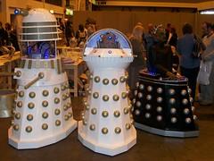 Davros & His Daleks (THEREALGINGERPRINCE) Tags: london film war comic who civil doctor elite imperial dalek 2009 con davros emperor renegade scientific skaro kaled