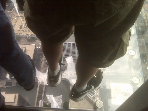 Dude's sneakers on the Skydeck