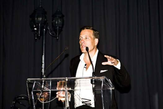 The Sartorialist, Talking at Holt Renfrew Party, Toronto