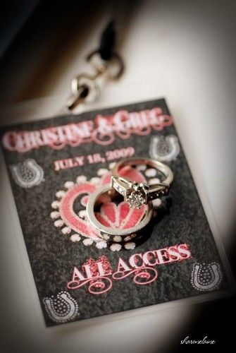Pictured above are the VIP passes from Christine and Greg 39s rock 39n roll