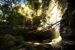 faery (island home) Tags: light green water pool waterfall nationalpark rocks australia bluemountains falls glen nsw newsouthwales ferns whitelight sunray lawson fairyfalls worldheritagenationalpark danteglen