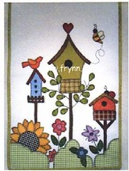 Hummmm ...num panô!!!!! (soniapatch) Tags: flores country patchwork abelhas aplicação passarinhos girassóis cercas panô casadepassarinho projetoparapatchwork