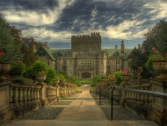 Hatley Castle HDR (Brandon Godfrey) Tags: world pictures castle landscape photography photo amazing fantastic scenery bc photos shots pics earth britishcolumbia sony picture scene images victoria vancouverisland creativecommons pacificnorthwest northamerica alpha dslr hdr highdynamicrange royalroadsuniversity outstanding hatleycastle a300 crd colwood greatervictoria dslra300 sonya300 hatleyparkhistoricsite capitalreginaldistrict