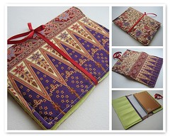 Batik Fabric Book Jacket Cover (I LUV my ART) Tags: fdsflickrtoys bookcover bookjacket batik batikfabricbookjacketcover