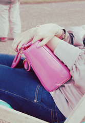 (heartbreaker [London]) Tags: park pink summer london bag gold purple hyde bracelet 2009 dior bulgari