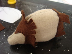 Felt Hedgehog in progress