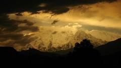 Annapurna range Pokhara (Teembaktu) Tags: nepal sunset mountain fish snow clouds heaven tail pokhara annapurna machapuchre