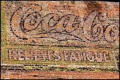 Coca Cola- Relives Fatigue (Wind Home) Tags: old signs utah cola soda coca odgen