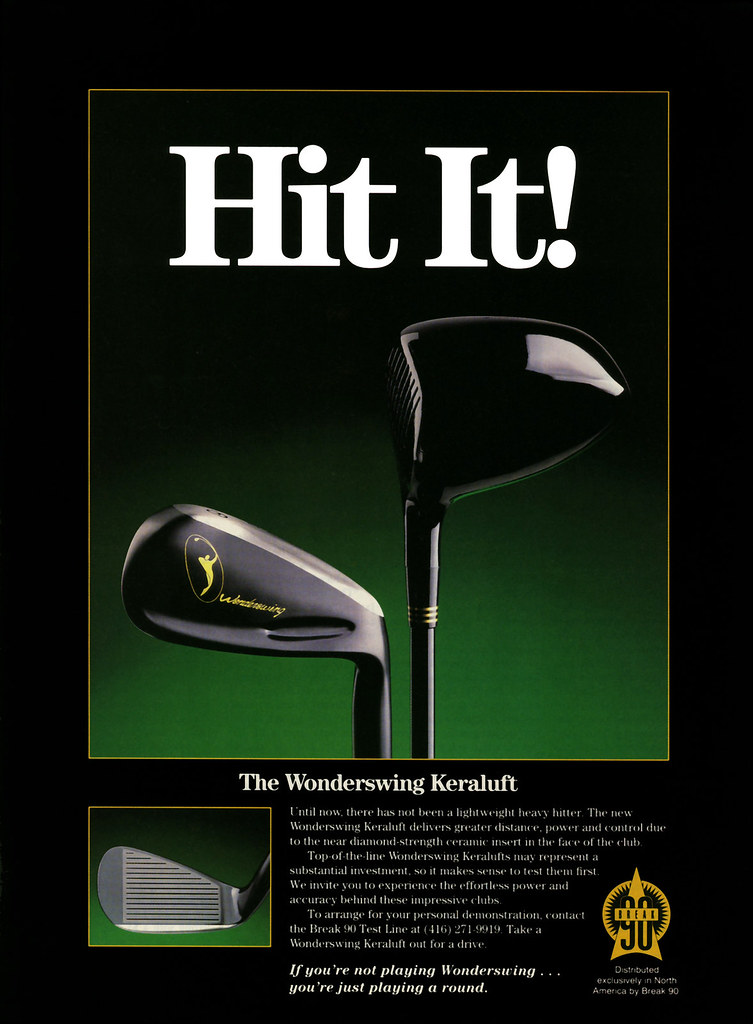 Print Advertisement for Break 90 Golf Products