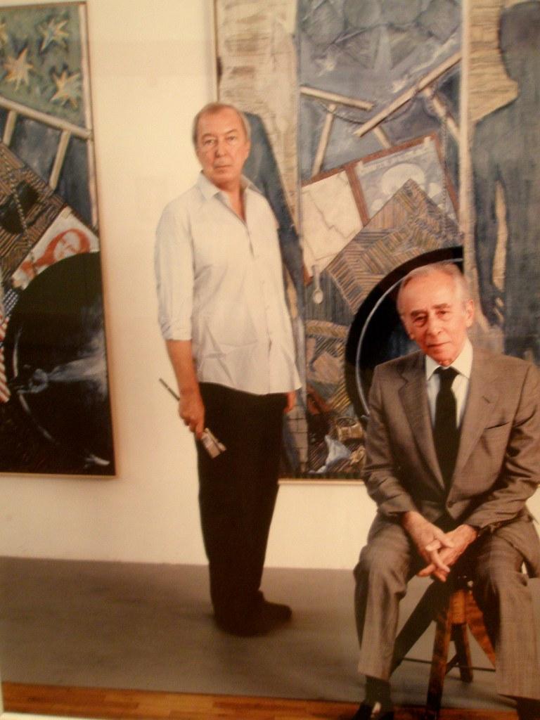 Hans Namuth 'Jasper Johns and Leo Castelli', MOCA, Cleveland Ohio