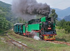 Bulgaria State Railways (BDZ) 760mm gauge 2-10-2T number 609 76, built in Poland in 1949, leads an excursion train from Septemvri to Bansko, August 26, 2006 (Ivan S. Abrams) Tags: railroad train sofia eisenbahn railway trains bulgaria locomotive railways railfan locomotives railroads steamtrain plovdiv steamtrains steamlocomotive bansko passengertrain passengertrains narrowgaugerailway narrowgaugerailways schmalspur velingrad railfans thomasfischer bdz dobrinishte excursiontrain railwaypreservation 152t railwayenthusiasts europeanrailways septemvri 760mmgaugerailways onlythebestare bulgariastaterailways ivansabrams bulgariansteamlocomotives kostadinmihailov assenstoyanov kostamihailov excursiontrains europeannarrowgaugerailways railbuff railwaysofeurope railwaytouringcompany 2102t railbuffs steaminthebalkans 760mmgaugerailway polishsteamlocomotive polishsteamlocomotives bulgariansteamlocomotive assenstoyanovmd abramsandmcdanielinternationallawandeconomicdiplomacy ivansabramsarizonaattorney ivansabramsbauniversityofpittsburghjduniversityofpittsburghllmuniversityofarizonainternationallawyer