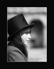 Mysterious Woman with Black Hat and Sultry Smile - Edinburgh Festival 2009 (Magdalen Green Photography) Tags: blackandwhite bw sexy scotland cool edinburgh scottish sultry melancholy blackhat doctorfaustus mysteriousgirl dsc1158 sultrysmile iaingordon edinburghfestival2009 mysteriouswomanwithblackhatandsultrysmile
