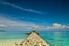 Into The Blue (B2Y4N) Tags: blue tourism beach nature yellow shirt clouds wow alone philippines resort bryan pearlfarm davaocity kadayawan b2y4n bryanrapadas