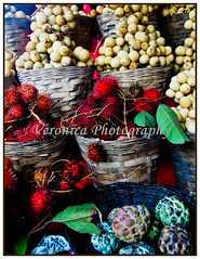 Quezon fruits (Very Veron) Tags: fruits fruitstand rambutan fruitbasket lanzones atis