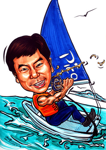 Sailing caricature