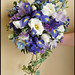Iris, Lisianthus, Freesia and Delphenium