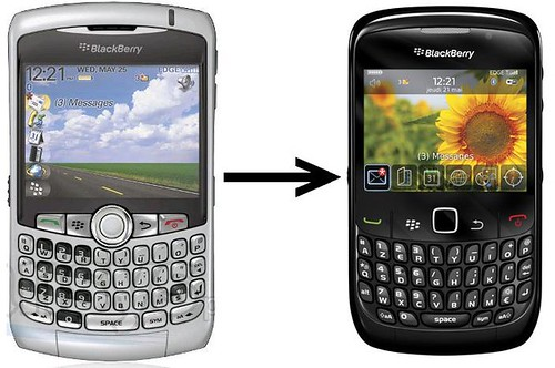 From a Blackberry Curve 8310 to a Blackberry Curve 8520