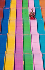 Rainbow Slide (peterkelly) Tags: toronto ontario canada digital amusement ride mother son slide fair canadian cne northamerica midway 2009 canadiannationalexhibition theex