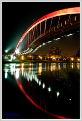 _1(Taipei Rainbow Bridge night scenes_1) (nans0410) Tags: bridge rainbow nikon  d90