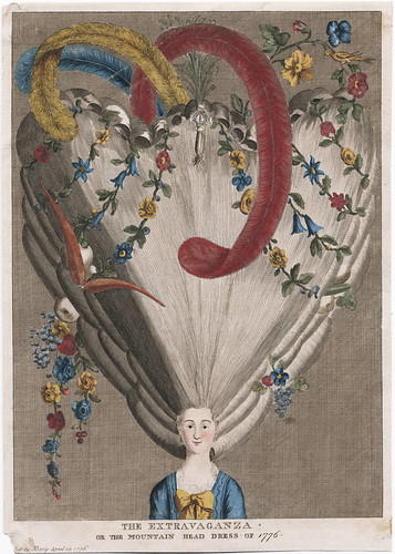 The Extravaganza, or, The Mountain Head Dress of 1776 (Darly)