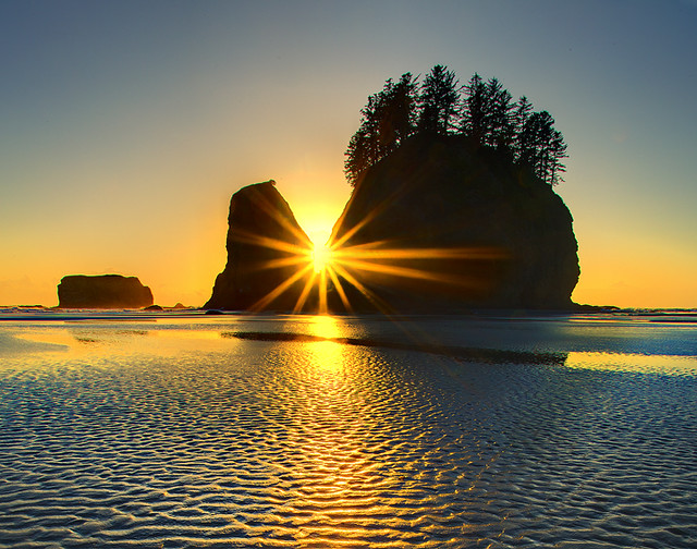 Second Beach Sunset -  Olympic National Park
