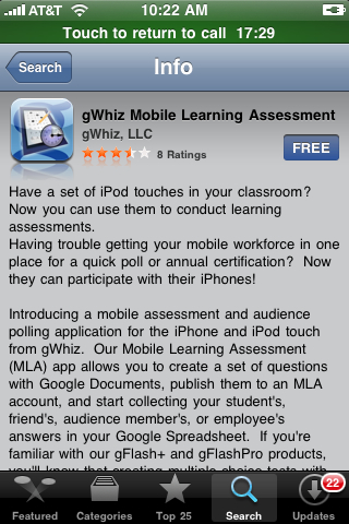 GWhiz Mobile Learning Assessment