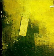 Yellow (joycehillstudio) Tags: art collage watercolor painting buffalo acrylic mixedmedia textures greens joyce yellows process spattering