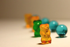 color (d0tsand-dashes) Tags: food macro colorful candy bokeh bears gummi