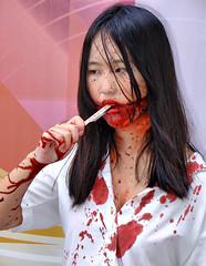 Bangkok tragedy (Asiacamera) Tags: sexy halloween girl thailand model bangkok thai horror asiacamera