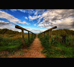 Cool Sandy Path to the Beach- Space for Thought  - St Andrews - Fife Scotland (Magdalen Green Photography) Tags: green beach nature scotland cool fife memories scottish beaches standrews hdr sanddunes coolclouds happymemories scottishlandscapes spaceforthought calmnaturescene iaingordon coolsandypath