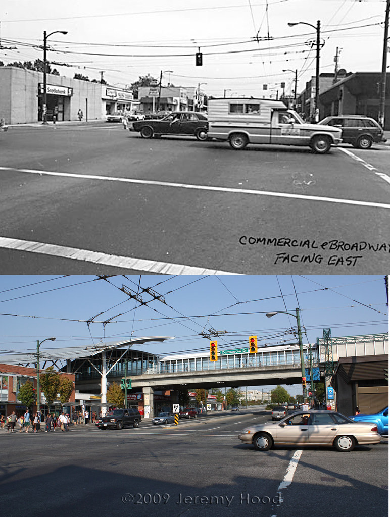 Commercial Dr. at Broadway - 1980s/2009