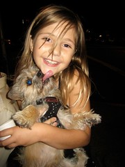 Bridget (Lynn Friedman) Tags: sanfrancisco california ca usa dog girl smile puppy lick happyface gettyimages lowerhaight younggirl sfist smilinggirl 94117 sonrisas sorrisi 7x7 girlwithdog cafedusoleil loha lickingdog lynnfriedman
