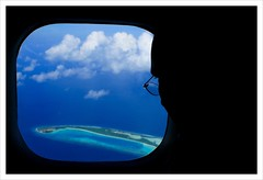 Marvel of Island Nation from the Eye of a Tourist (Prof EuLOGist) Tags: ocean blue sea island aviation flight maldives haa maldivian dhaalu hussainjinan