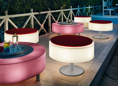 Illuminated Furniture - light up patio furniture by Modoluce