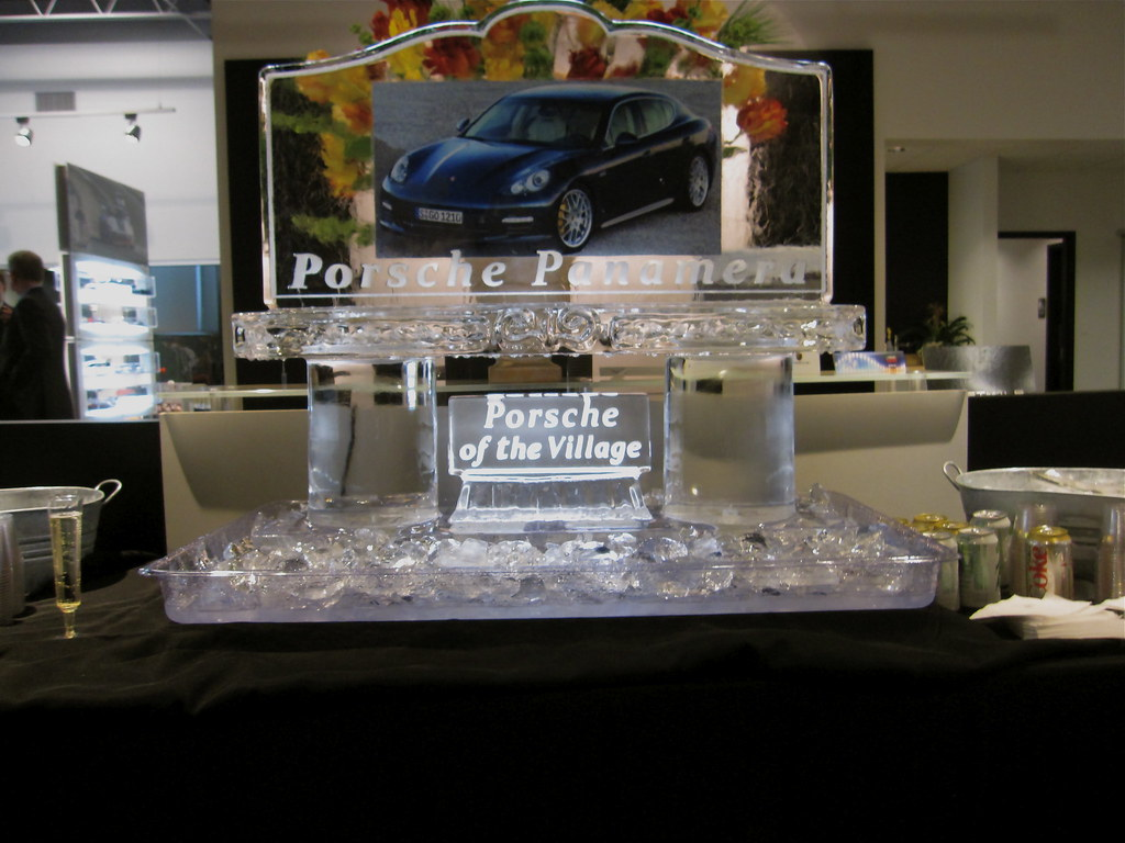 Porsche Panamera Ice Sculpture