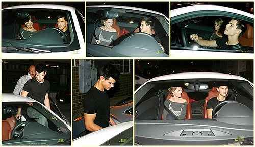 Taylor Swift And Taylor Lautner In Car. Taylor Lautner and Taylor