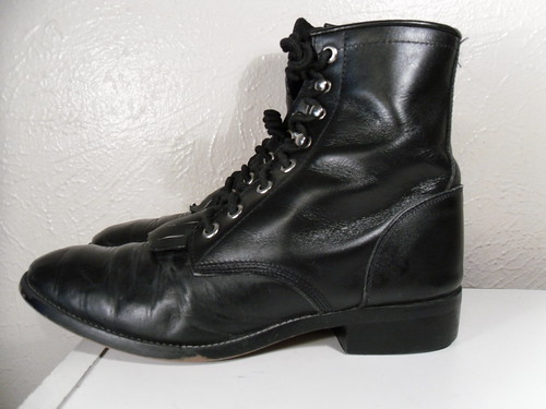 lace up boots for men. Vintage Men and Women Justin