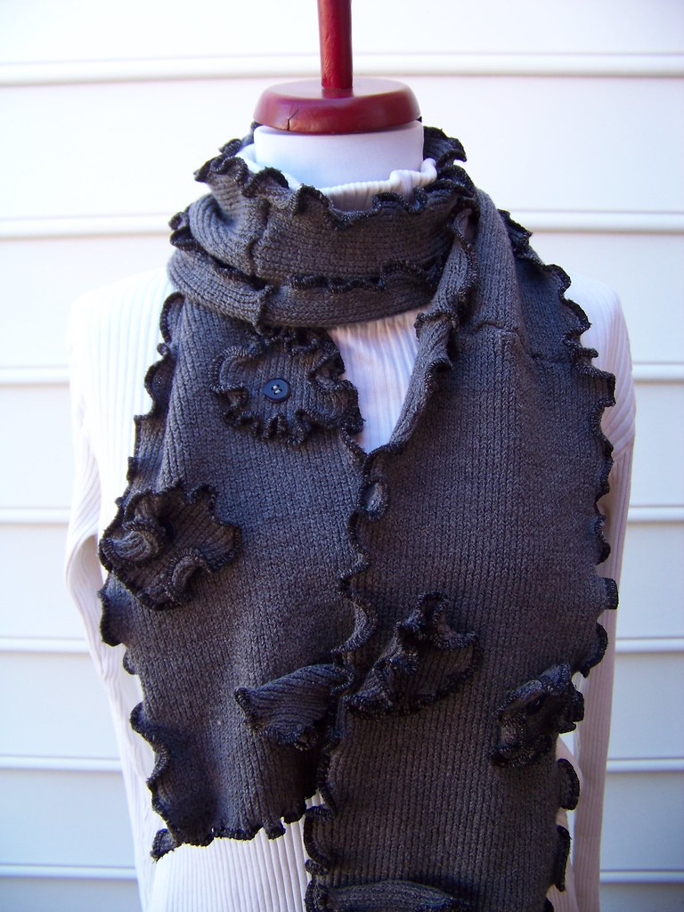 eco-friendly, upcycled scarf