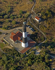 Lighthouse from above (Alida's Photos) Tags: usa lighthouse newyork dunes aerial fireisland barrierbeach