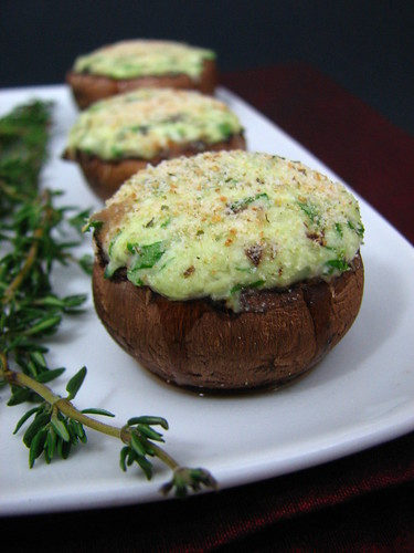 3-Cheese Stuffed Mushrooms