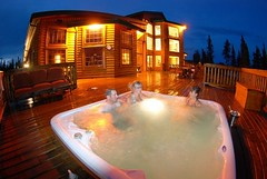 hot tub at North Haven Resort (North Star and North Haven Resorts) Tags: canada haven plane lunch corporate star fly fishing cabin five north lodge resort manitoba gourmet shore pike float northern spa luxury walleye sauna outpost