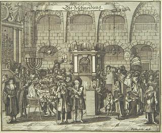 Circumcision, 1724, from Juedisches Ceremoniel