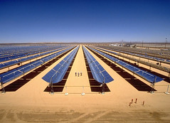 Parabolic trough power plant Mojave