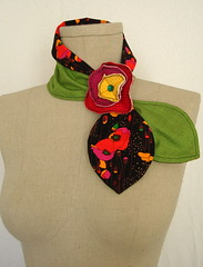 lady's got style (reverse) (Venus@suburbia-soup) Tags: flower green fashion scarf women poppies multicolor bold accessory hairtie scarflette