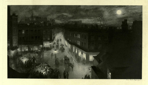 010-Escena nocturana en Bermondsey-London impressions 1898- William Hyde