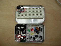 Altoids Tin Electronics Lab (open) (Nick Ames) Tags: project electronic avr altoidstinelectronicslab