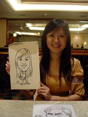 Caricature live sketching for wedding dinner 221109 - 17