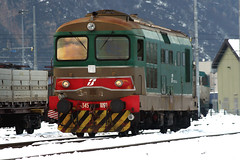 D.345.1090 (marvin 345) Tags: railroad italy train diesel merci rail trento railways treno trentino fs ferrovia locomotiva motrice scalo d345 roncafort d3451090