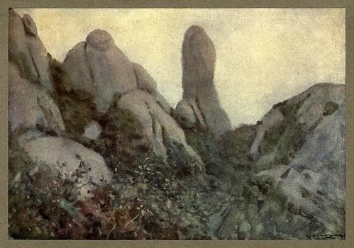 024-La montaña de Montserrat al amanecer-An artista in Spain 1914- Michael Arthur C.